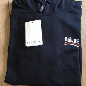 Balenciaga Sweaters - Balenciaga Print Hoodie